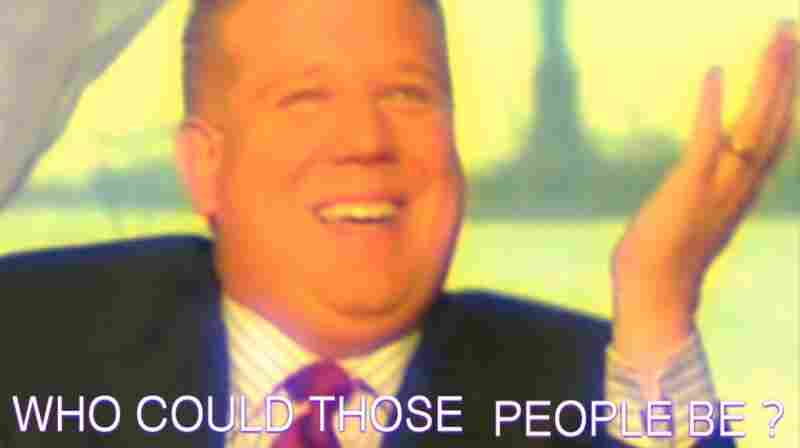 """Supersaturated colors and superimposed captions provide counterpoint to the words being spoken by JacobTV's subjects. A section titled """"Trust"""" explodes a chat between talk show host Glenn Beck and former Alaska Gov.  Sarah Palin."""