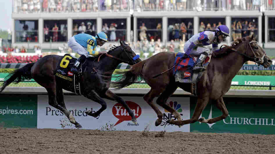 Jockey Mario Gutierrez rides I'll Have Another to victory in the 138th Kentucky Derby horse race at Churchill Downs Saturday, May 5, 2012, in Louisville, Ky.