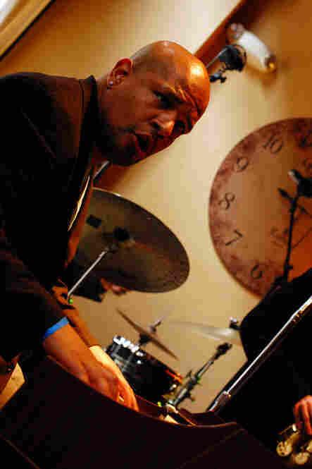 Luke Carlos O'Reilly played the Hammond B-3 organ at Time.