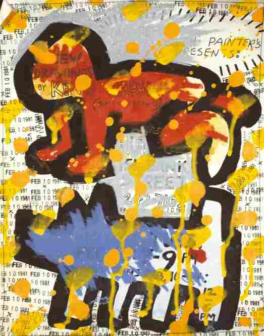 Flyer for Des Refusés at Westbeth Painters Space in New York City, 1981, acrylic and ink on paper
