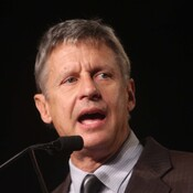 Former New Mexico governor Gary Johnson was nominated as the Libertarian party's candidate for president at their national convention in Las Vegas over the weekend.