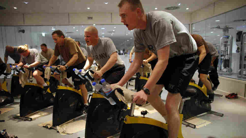 In the Army, you need good music to keep in shape, because exercise is part of the job.