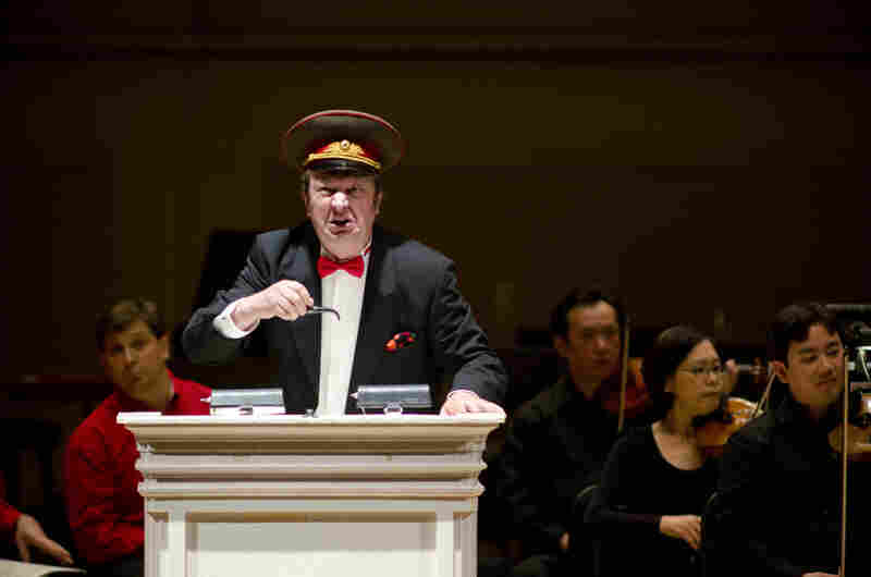 The Houston Symphony and conductor Hans Graf presented an all-Shostakovich evening for their evening at the Spring for Music festival at Carnegie Hal on May 7, 2012. They played two rarely heard works in powerful performances: the bitingly satirical Anti-Formalist Rayok, with soloist Mikhail Svetlov (pictured), as well as the gargantuan Symphony No. 11.