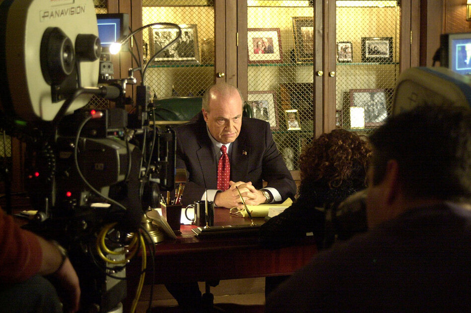 Former Sen. Fred Thompson, R-Tenn., 69, served in Congress from 1994 to 2003 before returning to acting. Here, he tapes a scene for the TV series  Law & Order.  (AP)