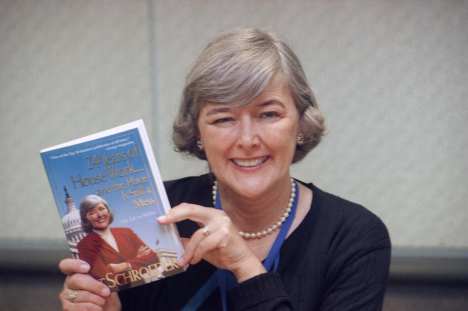 Former Rep. Pat Schroeder, D-Colo., now 71, authored a book about her 24 years in Congress, as shown in 1999. She is now a lobbyist.  (AP)