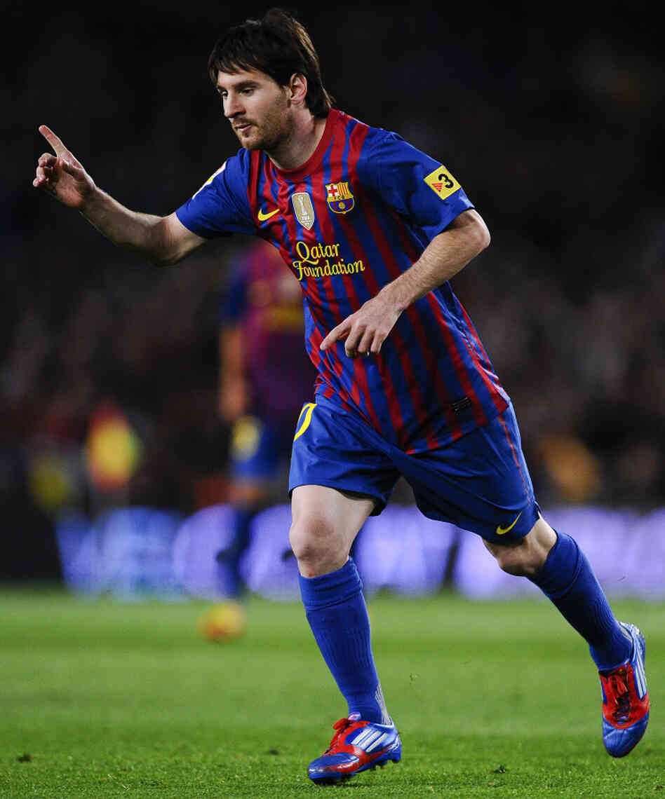 Lionel Messi of Barcelona during a match Saturday against RCD Espanyol ...