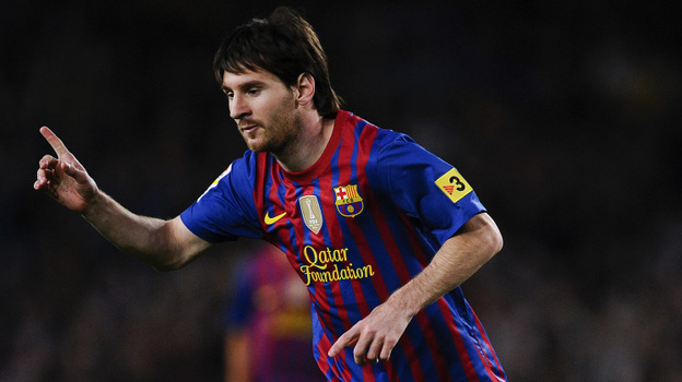 Lionel Messi of Barcelona during a match Saturday against RCD Espanyol. (Getty Images)