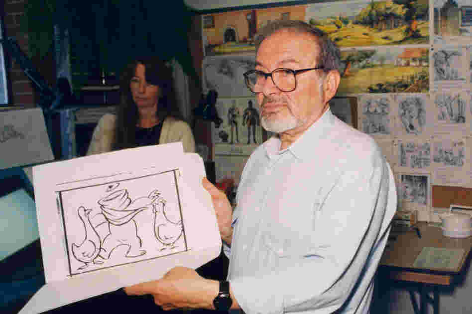 "Sendak, pictured above in 1995, explained, ""Children surviving childhood is my obsessive theme and my life's concern."""