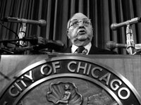 Richard J. Daley served as the mayor and Democratic Party boss of Chicago for more than two decades, from 1955 to 1976. His son, Richard M. Daley, served as mayor from 1989 to 2011. <a href=