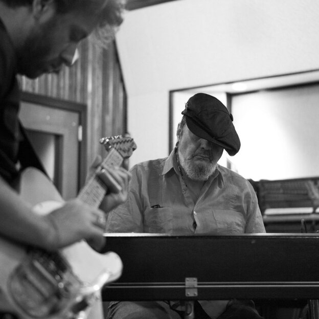 Dr. John (right) with Black Keys singer-guitarist Dan Auerbach, who produced Locked Down. In April, the pair played songs from the album at the Brooklyn Academy of Music.