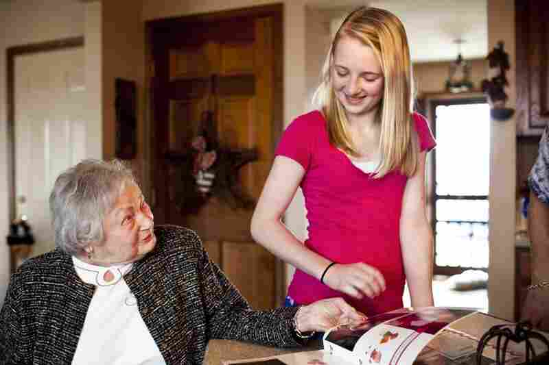AnnaBelle enjoys a moment with her great-granddaughter and LaDonna's daughter, Lauren, 12. LaDonna says that having AnnaBelle at home has made both sets of children kinder and less self-centered.