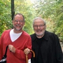 Gregory Maguire (left) counted Maurice Sendak as one of his mentors. The two are seen here in October 2010.