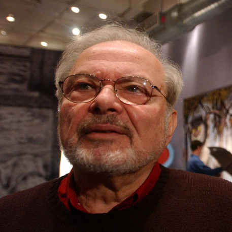 Author and illustrator Maurice Sendak stands with a character from his book Where the Wild Things Are, in January 2002 at the Children's Museum of Manhattan in New York City. Sendak died in Danbury, Conn., on Tuesday. He was 83.