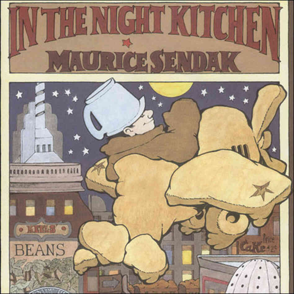 In the Night Kitchen tells the story of a boy who sneaks out of bed and visits three singing bakers. The boy's nudity caused controversy in 1970.