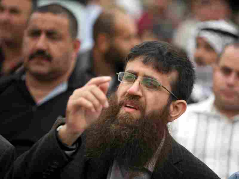 Israel released Khader Adnan, a senior member of Islamic Jihad, in February after a 66-day hunger strike. Now, he is helping rally support for Palestinian prisoners currently on hunger strike. He's shown here in the West Bank on April 18.