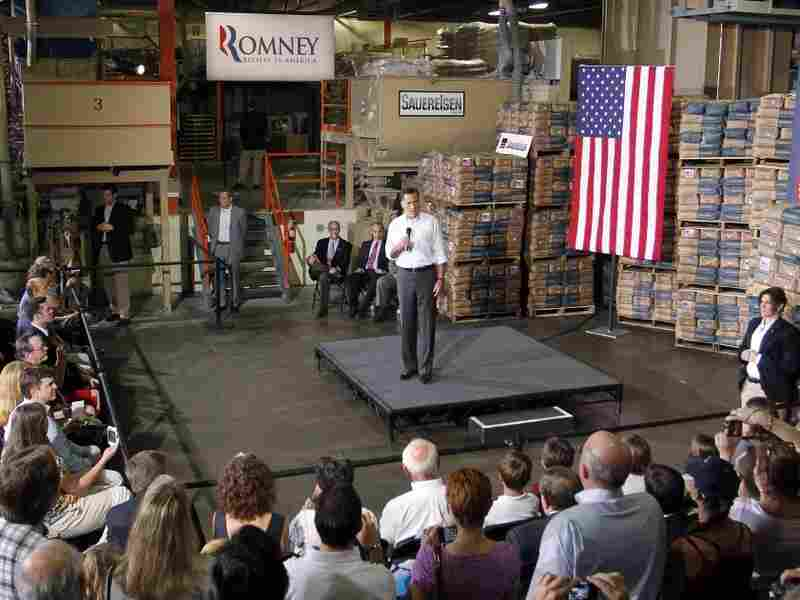 Republican presidential candidate and former Massachusetts Gov. Mitt Romney speaks at Sauereisen construction materials company on May 4, 2012 in Pittsburgh, Pennsylvania. Romney has been criticized in recent days for the resignation of an openly gay spokesman.