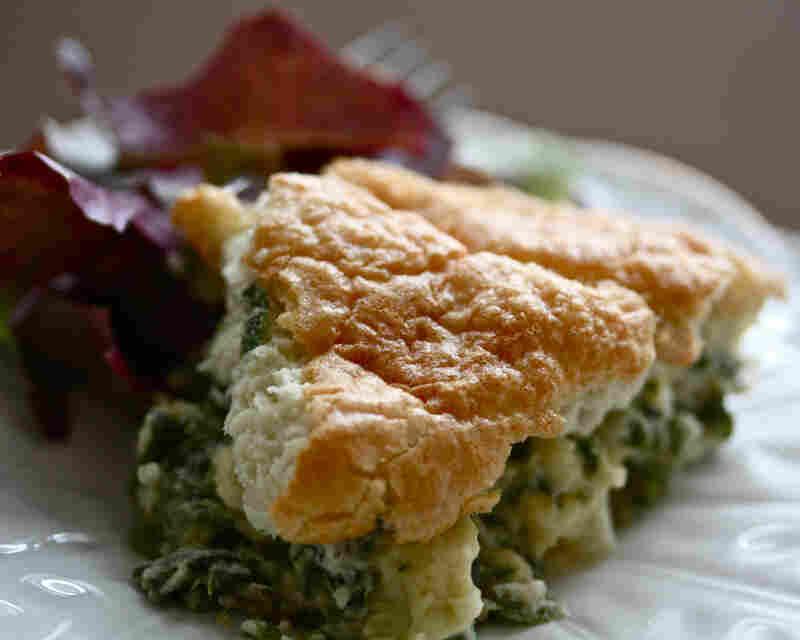Asparagus-Spinach Souffle
