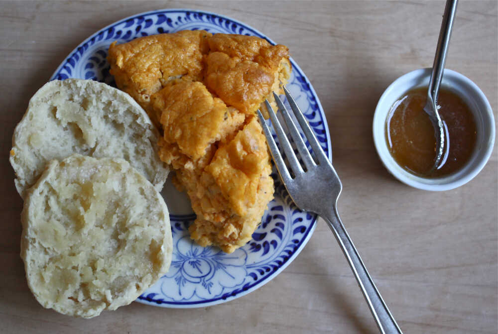 Sweet Potato Souffle (With Honey-Buttermilk Biscuits)