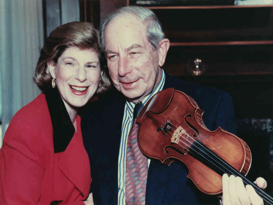 Nina Totenberg and her father, Roman. The violinist died Tuesday, at 101.