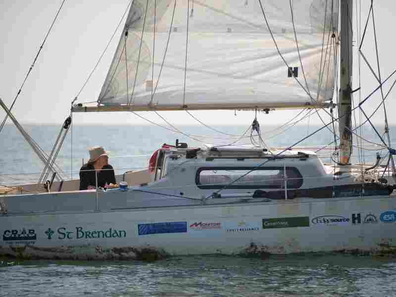 Matt Rutherford sailed for Chesapeake Region Accessible Boating, which gives sailing opportunities to people with mental and physical disabilities.
