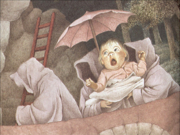 A baby is snatched away by goblins in Maurice Sendak's Outside Over There. The beloved author and illustrator — who took a darker approach to children's storytelling — died Tuesday at the age of 83.