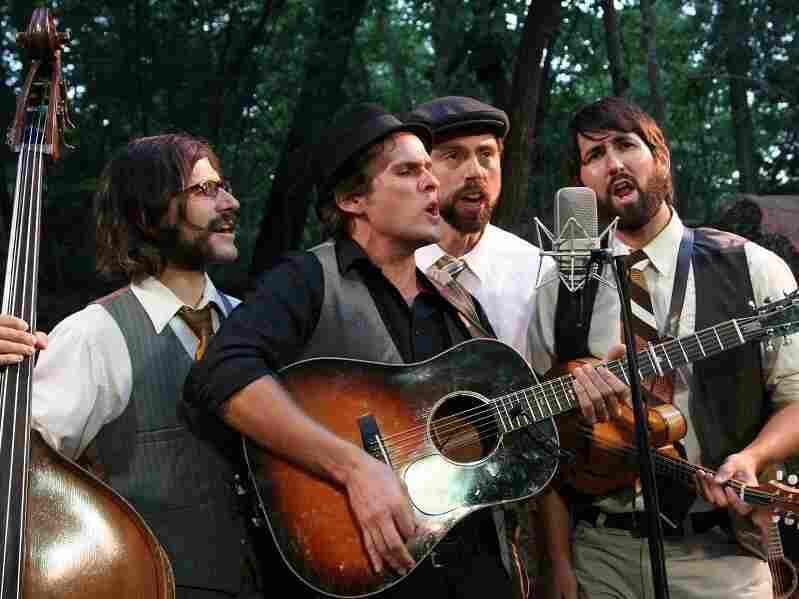 "A heavy hymn, ""Rain in the Valley"" is sparse and dense at once, carried by The Steel Wheels' four interlocking voices."