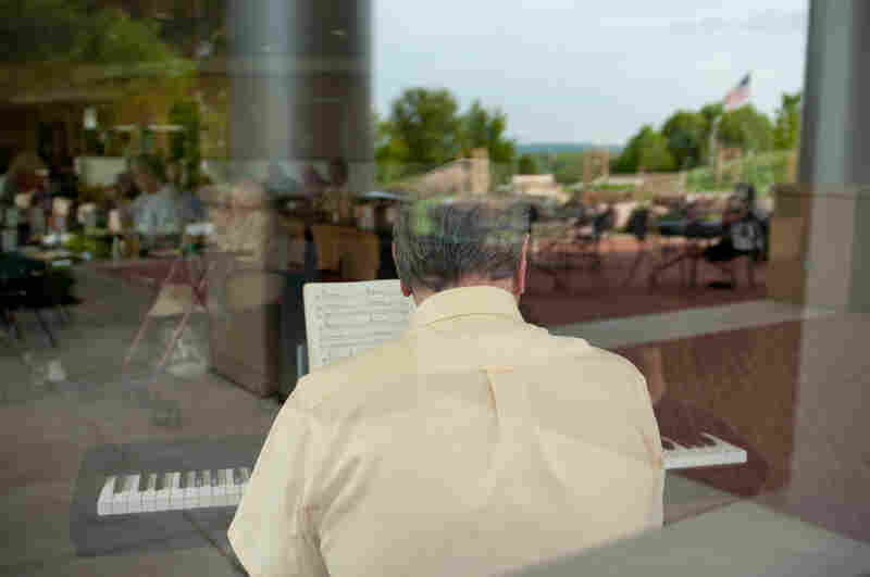 Twice a week, local seniors in Warrenton, Virginia, flock to the hospital's cafeteria, called The Bistro, for good food, a great view and musical accompaniment by a retired piano player from a nearby Nordstrom's.