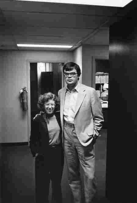 Terry and A Prairie Home Companion's Garrison Keillor in the late 1980s.