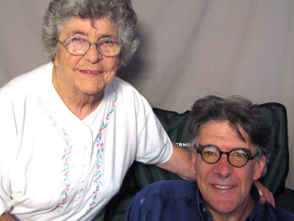 Dennis McLaughlin interviewed his mom, Theresa, at StoryCorps in Portland, Maine, to thank her for how she raised him. (StoryCorps)