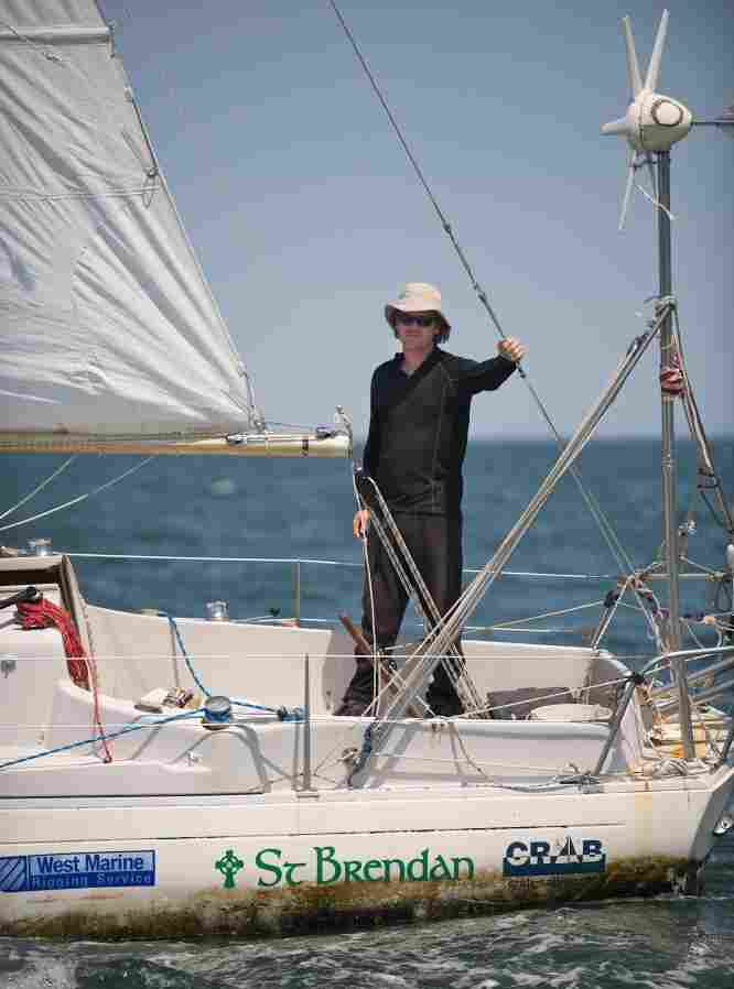 The wind begins to freshen as Matt Rutherford sails toward the mouth of the Chesapeake Bay, the finish line for his record-breaking solo, nonstop circumnavigation of the Western Hemisphere.