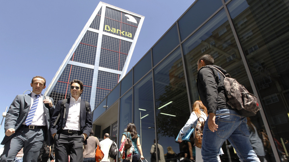 The Spanish government took a controlling stake in Bankia, the country's fourth-largest bank and largest real estate lender, on Wednesday. (Reuters /Landov)