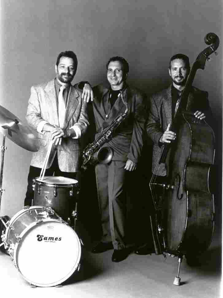 An old publicity photo of The Fringe. Left to right: Gullotti, Garzone, Lockwood.