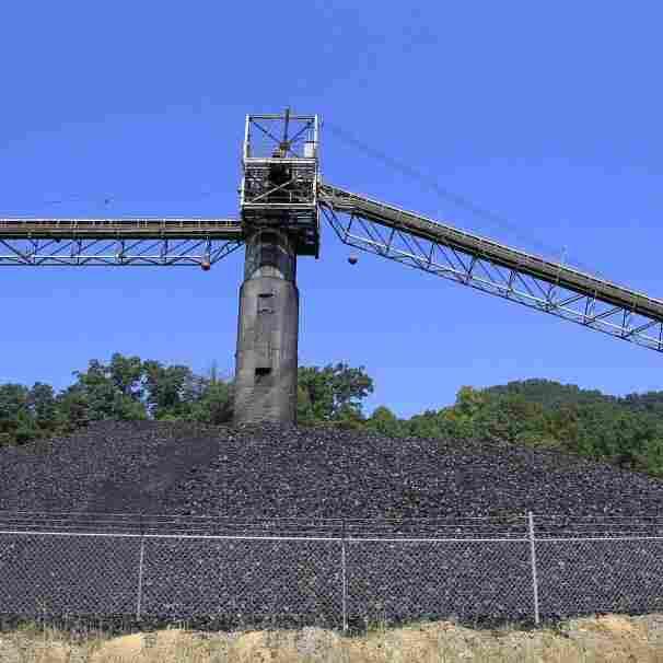 Coal piled near a conveyor at a mine near Meta, Ky., in August 2011.