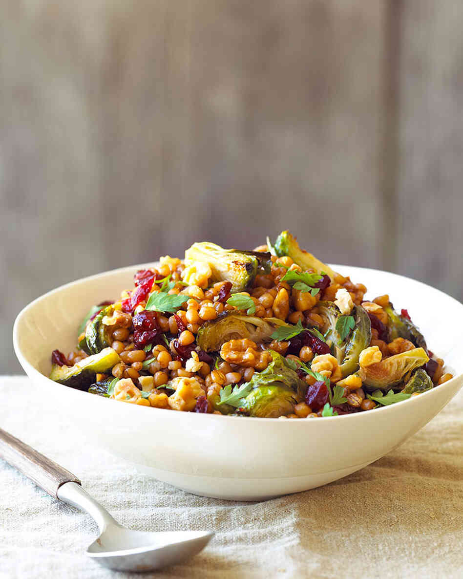 Recipe: 'Warm Wheat Berries with Roasted Brussels Sprouts ...'