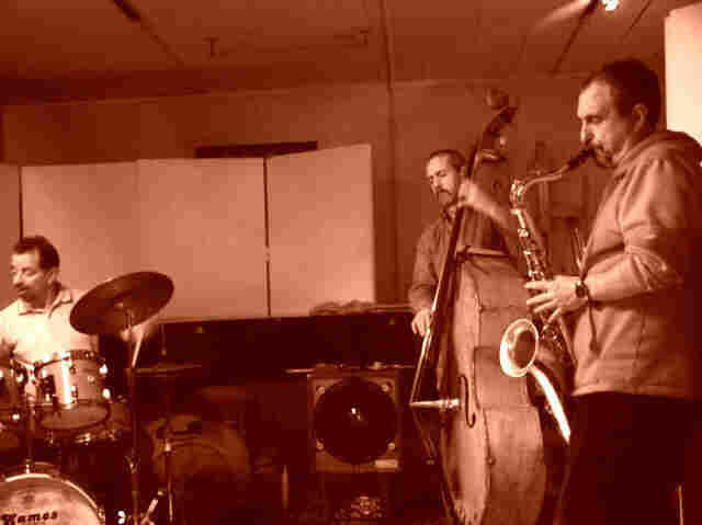 The Fringe is Bob Gullotti, drums; John Lockwood, bass; and George Garzone, saxophone.