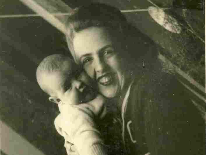 Grandma Sara Garcia holds Jasmine's mother, Marta.