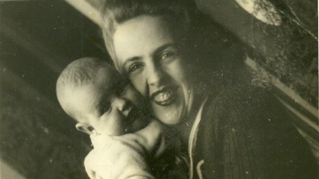 Grandma Sara Garcia holds Jasmine's mother, Marta. (Courtesy of Jasmine Garsd)