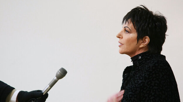 """Liza Minnelli says that songs """"punctuate your emotions throughout your life."""""""