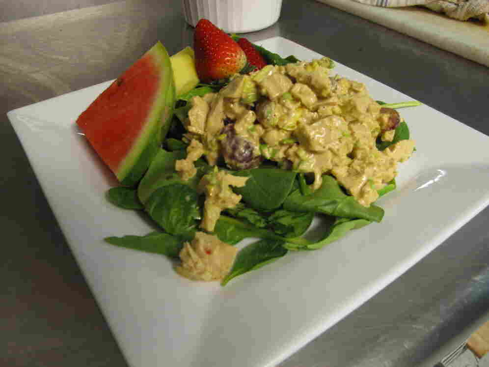Those who've tried it say fake chicken salad looks and tastes like the real thing.