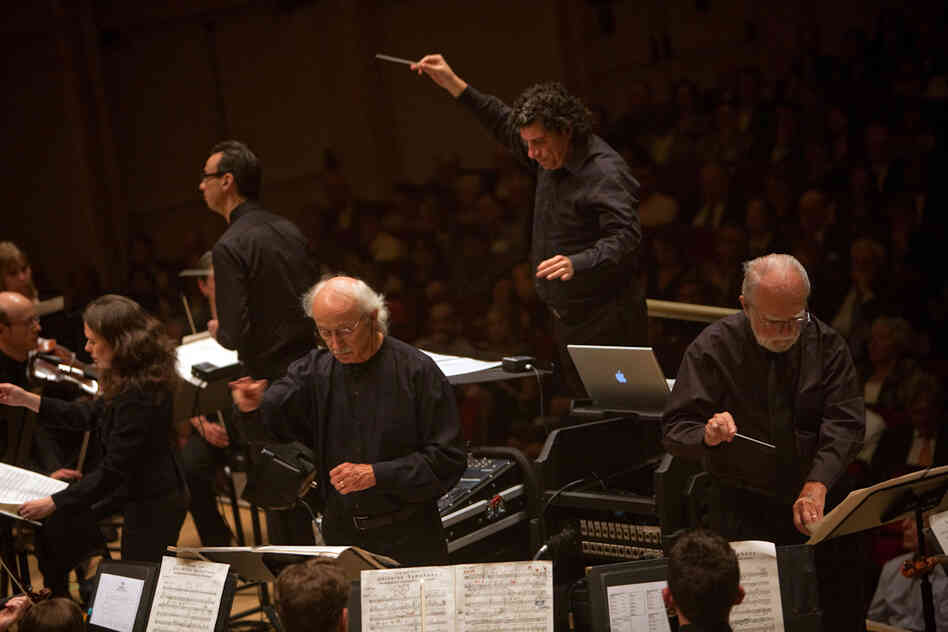 It takes not one or two, but five conductors to pull off Charles Ives' gargantuan  Universe Symphony, the opening work on the Nashville Symphony's Spring For Music concert at Carnegie Hall.