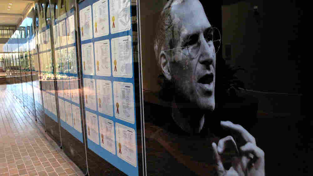 Steve Jobs filed more than 300 patents, now on display at the Smithsonian's S. Dillon Ripley Center in Washington, D.C.