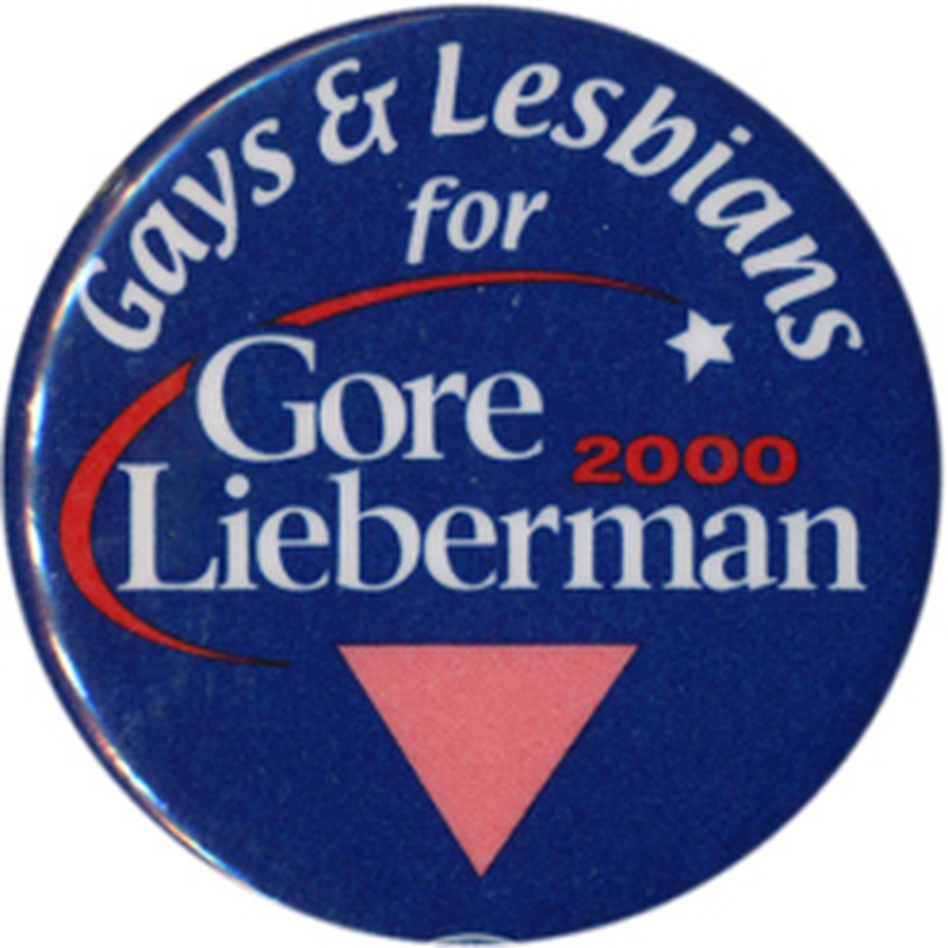 Gay & lesbian votes normally go to Democratic candidates, reaching a high of 80% in 2008. (Ken Rudin collection)