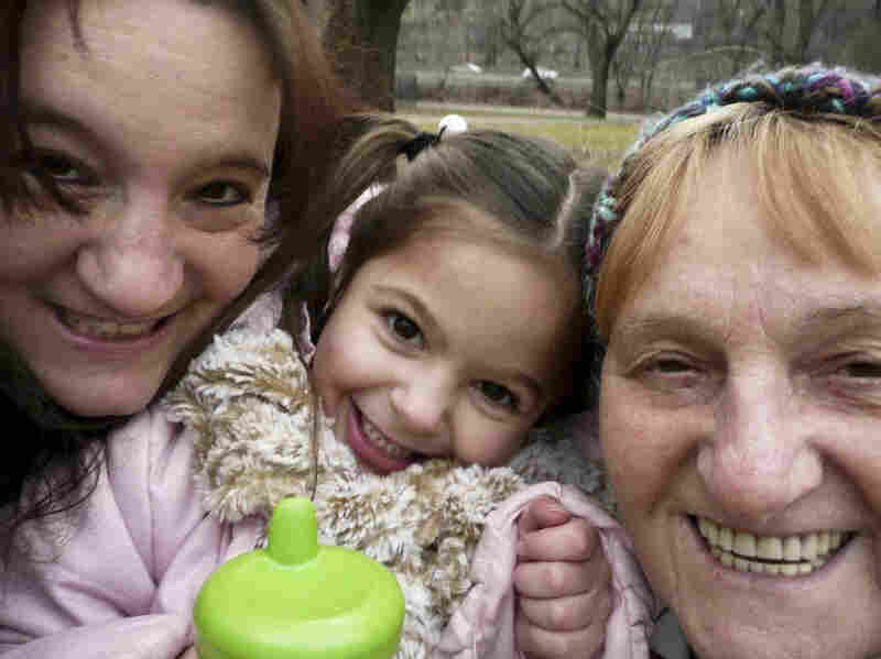 """""""Here'€™s a picture of my awesome mom, my adorable niece and me. Three generations of funny, silly ladies with big hearts. Family is very important and we do our best to help each other out."""""""