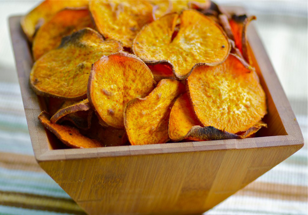 Recipe: Curried Sweet Potato Chips : NPR