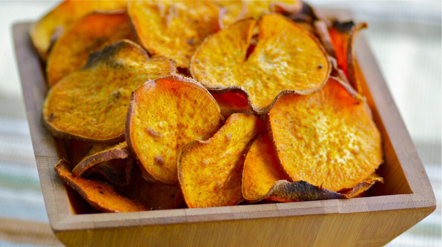 chips 4 sweet potatoes bbq sweet potato chips curried sweet potato