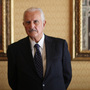 Mexican author Carlos Fuentes poses for a photo after a news conference in Mexico City on March 12. Fuentes died Tuesday at a hospital in Mexico City. He was 83.