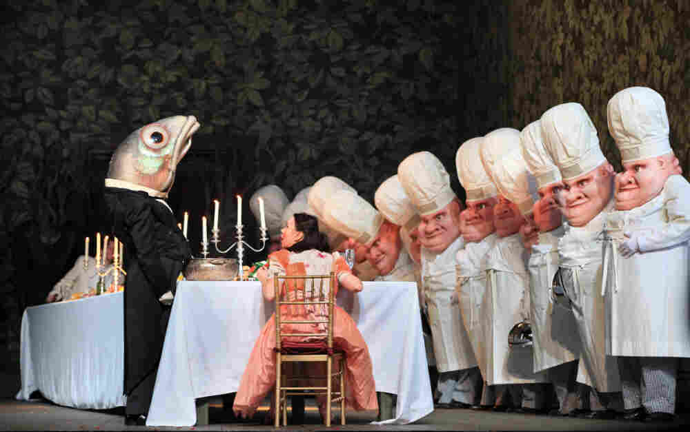 "Aleksandra Kurzak, seated center, as Gretel in a scene from the opera ""Hansel and Gretel"" at the Metropolitan Opera in New York City."