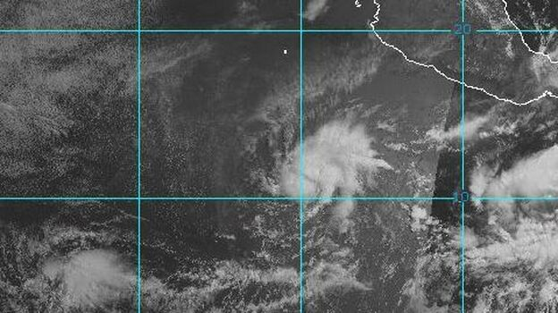 Aletta spins off the Mexican coast. (NOAA)