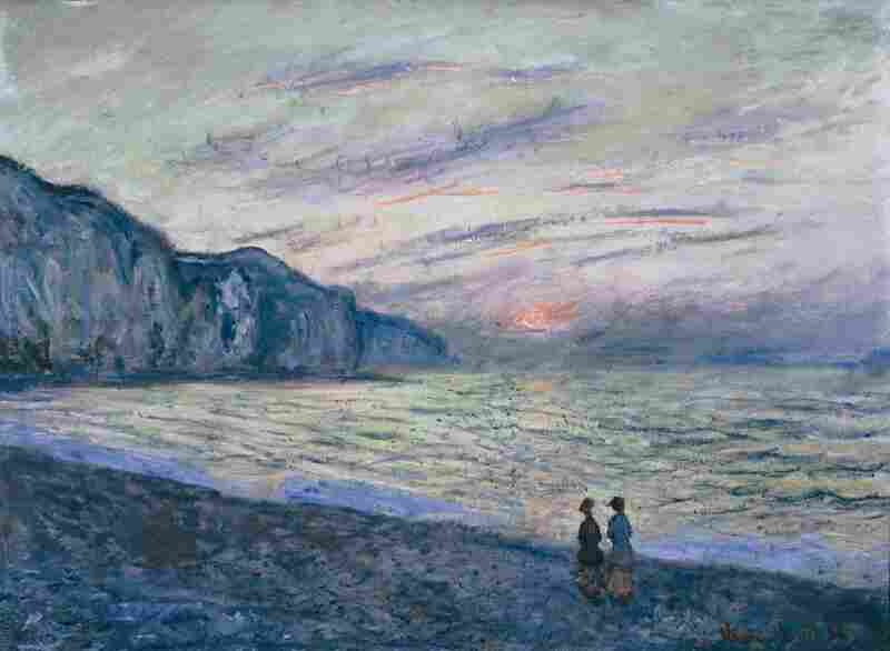 Students and seniors discussed Claude Monet's Sunset at Pourville during a recent visit to the Kreeger Museum in Washington, D.C.
