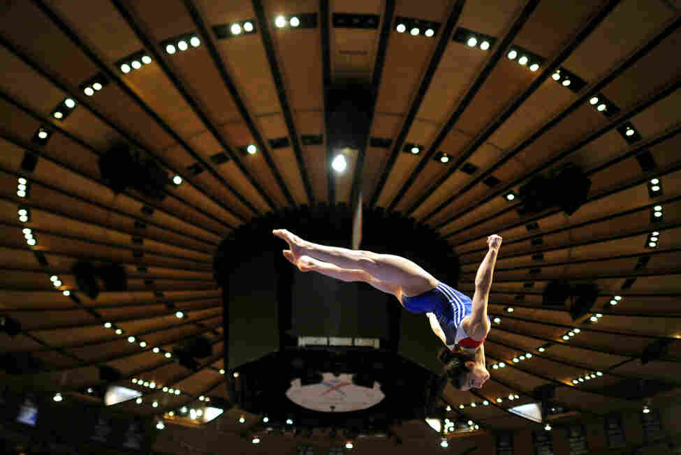 Aly Raisman practices on the balance beam at the 2012 American Cup at Madison Square Garden in New York. She placed second in the all-around portion of the event.
